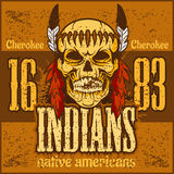 American native chief skull -  vintage Royalty Free Stock Photography