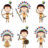 American Native Costume Boys Royalty Free Stock Photo