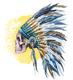 American native hat and skull Stock Photo