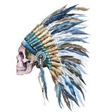 American native hat and skull Stock Images