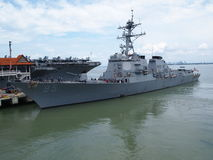 American Naval Ship Royalty Free Stock Image