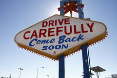 American,Nevada,Welcome to Never Sleep city Las Vegas Royalty Free Stock Images