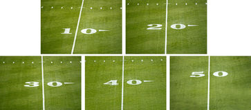 American NFL Football Field Number Line Markers Royalty Free Stock Images