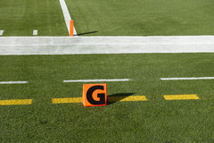 American NFL Football Goal Line Touchdown Marker Royalty Free Stock Images