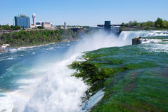American Niagara Fall. With the background of building Stock Image