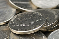 American Nickels. A high resolution, close up image of American nickels royalty free stock photo