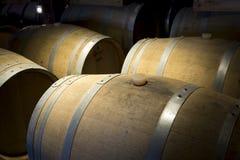 Noble wood barrels keep wine Stock Photos
