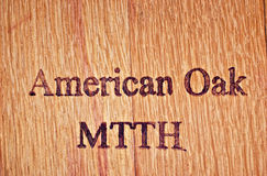 American Oak MTTH Wine Barrel Royalty Free Stock Images