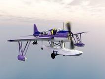 American observation floatplane of World War II Royalty Free Stock Photos