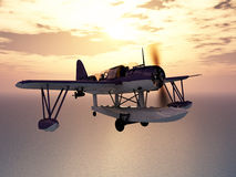 American observation floatplane of World War II Royalty Free Stock Photography