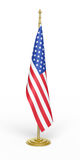 American office flag. 3d render office of the American flag (isolated on white and clipping path Stock Photos