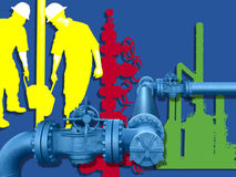 OIL GAS INDUSTRY CONCEPT. American Oil and Gas Industry Concept Royalty Free Stock Image