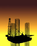 OFFSHORE OIL GAS INDUSTRY DRILLING RIG TECHNOLOGY Stock Images