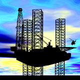 AMERICAN OIL GAS INDUSTRY CONCEPT Stock Photo