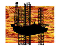 AMERICAN OIL GAS INDUSTRY TECHNOLOGY CONCEPT Royalty Free Stock Photography