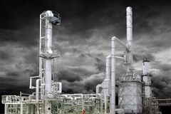 OIL GAS PETROCHEMICAL REFINING INDUSTRY Stock Images