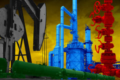 AMERICAN GAS OIL INDUSTRY ILLUSTRATION CONCEPT Royalty Free Stock Photography