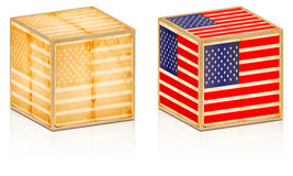 American old box. Two american old box isolated on white Stock Photography