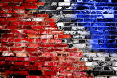 American Old Brick Wall Royalty Free Stock Images