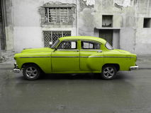 American old car in Cuba Stock Image