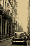 American old car in Havana street, Cuba Stock Image