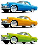 American old-fashioned car. Vectorial icon set of American old-fashioned cars isolated on white backgrounds. Every cars is in separate layers. File contains Stock Photos