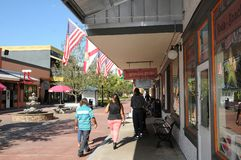 AMERICAN OLD TOWN KISSIMMEE ORLANDO FLORIDA USA. KISSIMMEE/ORLANDO / FLORIDA / USA - 30,November 2017. Visitor and travelers visiting Old town i Kissimmee royalty free stock images