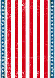 American old vertical flag Royalty Free Stock Photos