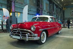 American Oldtimer Car. Hudson Hornet on Custom & Tuning Show. Russia, St. Petersburg, October, 2017 Royalty Free Stock Images