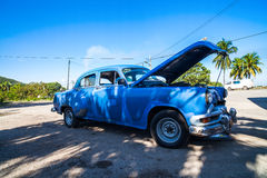 American Oldtimer in Cuba parked Royalty Free Stock Images