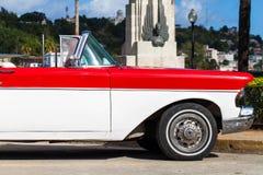 American Oldtimer in Havana Cuba. On the Malecon Royalty Free Stock Photos