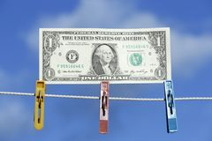 The American one dollar Stock Image