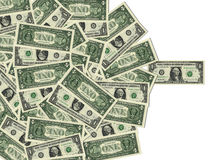 American One Dollar Bills Stock Photography
