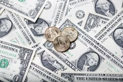 American one dollars Royalty Free Stock Image