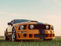 American Orange Muscle Car Royalty Free Stock Image
