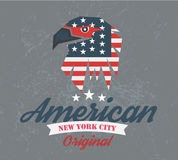 American original club, logo and t-shirt graphics, Royalty Free Stock Image