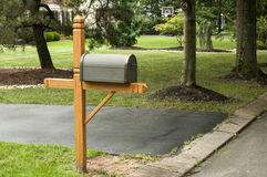 American outdoor metal mailbox Stock Images