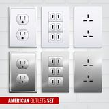 American Outlets Set Stock Images