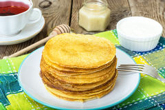 American Pancake delicious Stock Images