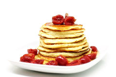 American Pancake With Cherries