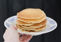 American pancakes Royalty Free Stock Photos