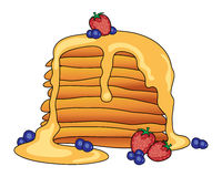 American pancakes Stock Photo