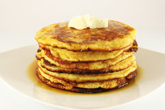 American pancakes with maple syrup Stock Image