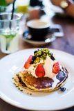 American pancakes with ricotta Royalty Free Stock Photos