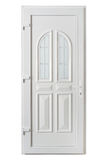 american panel pvc door with frosted glass Stock Image