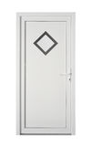 American panel pvc door with frosted glass. American panel decorative pvc door for home Stock Photo