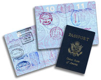 American Passport Royalty Free Stock Image