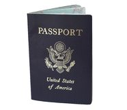 American Passport. Isolated on white - path is included with file stock image