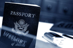 American Passport at Immigration Customs Office  Royalty Free Stock Photo