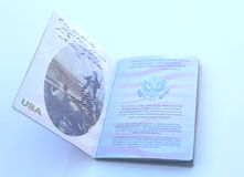 American passport open isolated Royalty Free Stock Images